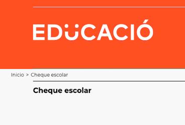 Convocatoria ayudas cheque escolar 2020-2021