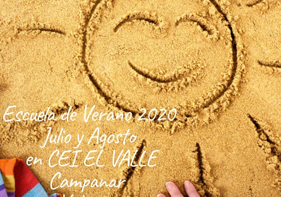 Escuela de verano Valencia Julio y Agosto 2020